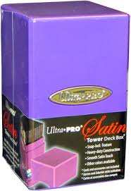 Satin Tower Deck Box - Purple