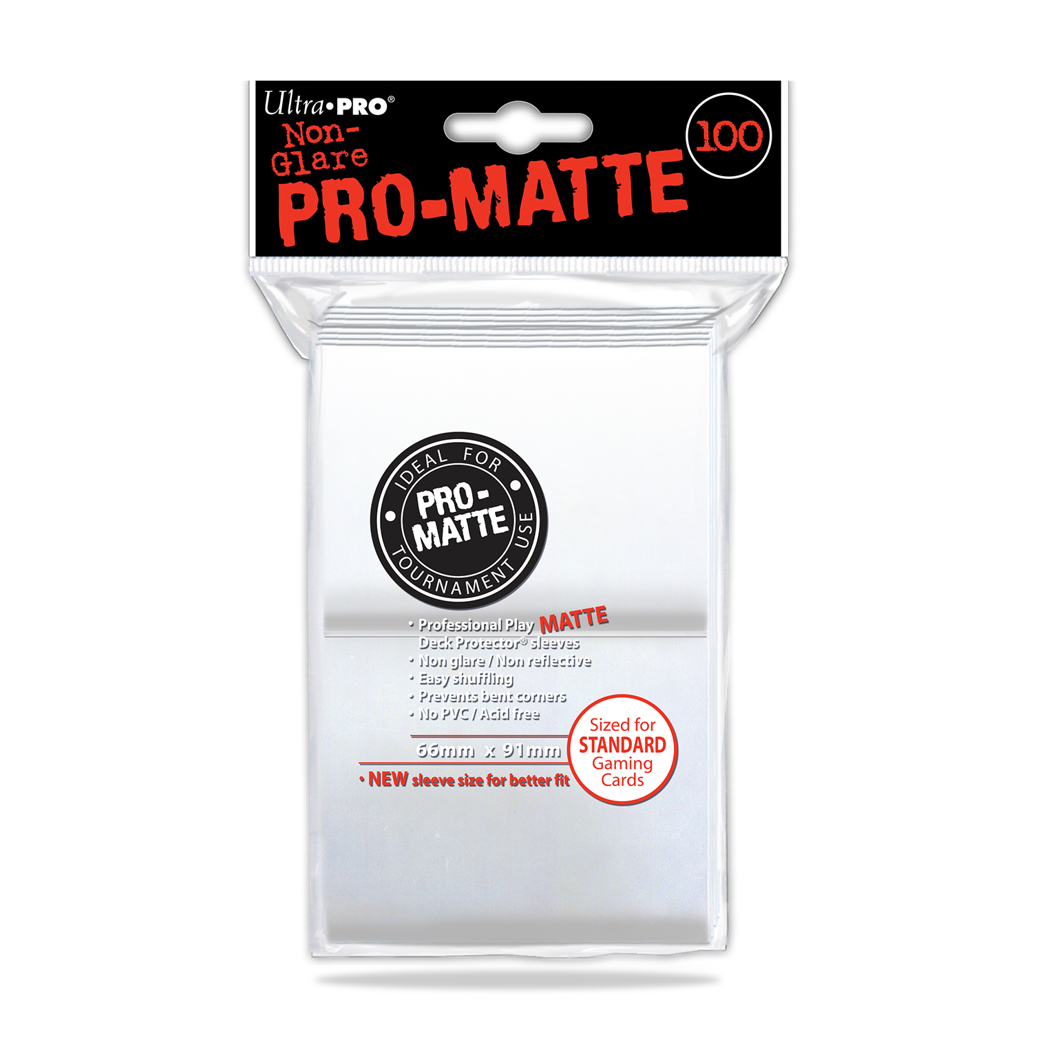 Ultra Pro Matte Clear 100ct